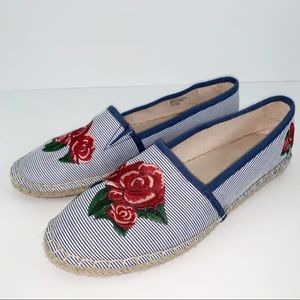 Charter Club embroidered espadrille flat